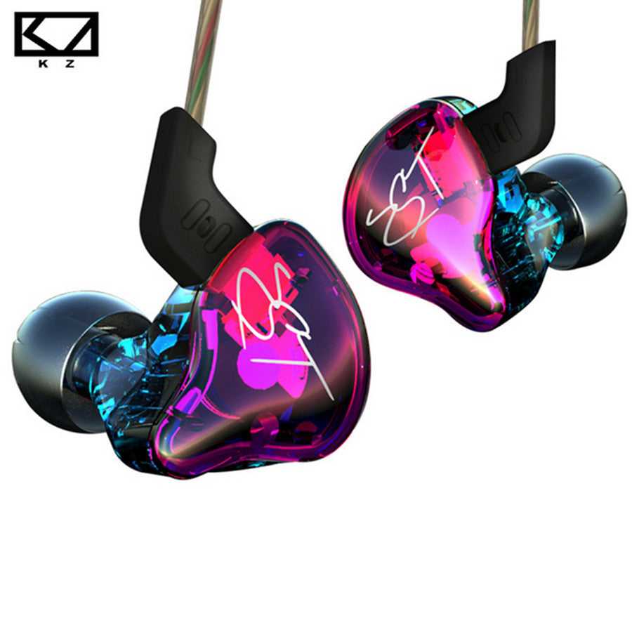 KZ ZST Earphone Balanced Armature With Dynamic Earphone hybrid Driver Noise Cancelling Headset With Mic Earplug