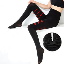 Fashion Winter 80-95cm Women Velvet Thickening Pantyhose Female Bottoming Tights slim