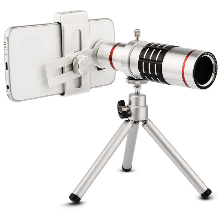 High quality 18x Zoom Optical Telescope Telephoto Lens Kit Phone Camera Lenses With Tripod For iPhone 6 7 Samsung Xiaomi Nokia
