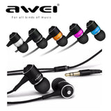 Universal 3.5mm Earphones AWEI ES Q3 Noise Cancelling In-ear Style Earphone for Phone MP3/MP4 Players