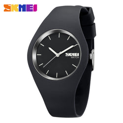 SKMEI Fashion Casual quartz watch Men watches Montre Femme Reloj Mujer Silicone Waterproof Sport Wristwatches