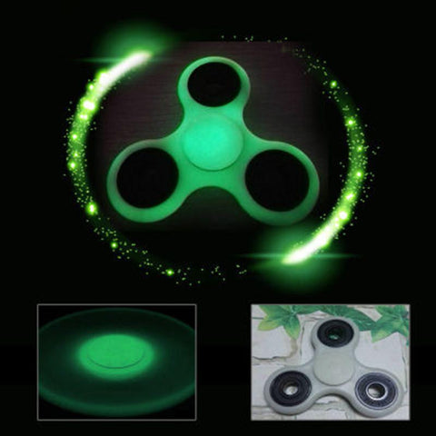 Hot Sale Glowing Tri Fidget Spinner Hand Spinner Gyro Ceramic Ball EDC Focus Stress Reliever Kids/Adults Fidget Toys
