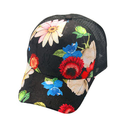 Fashion Snapback Couple Flower Printing Baseball Cap Women Men Unisex Snapback Cotton Caps Bone Hip Hop Flat Hat