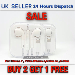 Apple Earphones Headphones iPhone 7 7s 6 6s 5s iPad Ipod With Mic Remote