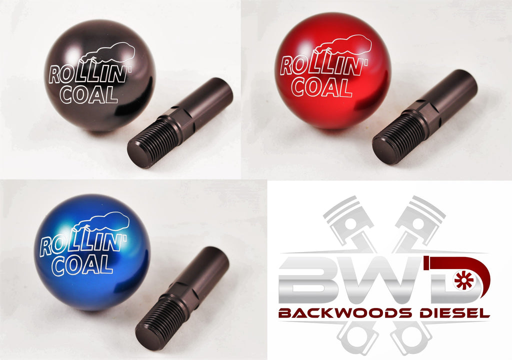"NOW AVAILABLE 1989-2018 Dodge Ram Cummins Rollin Coal 2.25"" Billet Aluminum Shift Knobs"