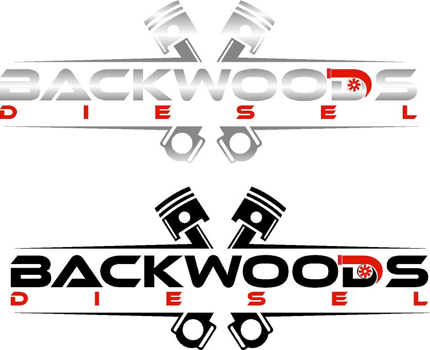 "BackWoods Diesel Vinyl Die Cut Decal 8""x3"""