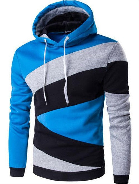 2017 Hoodies Mens Male Hip Hop Male Brand Hoodie Color Stitching Sweatshirt  Suit Men Slim Fit Men Hoody XXL E5RV