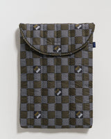 """Puffy Laptop Sleeve 16"""" - Woven Check"""