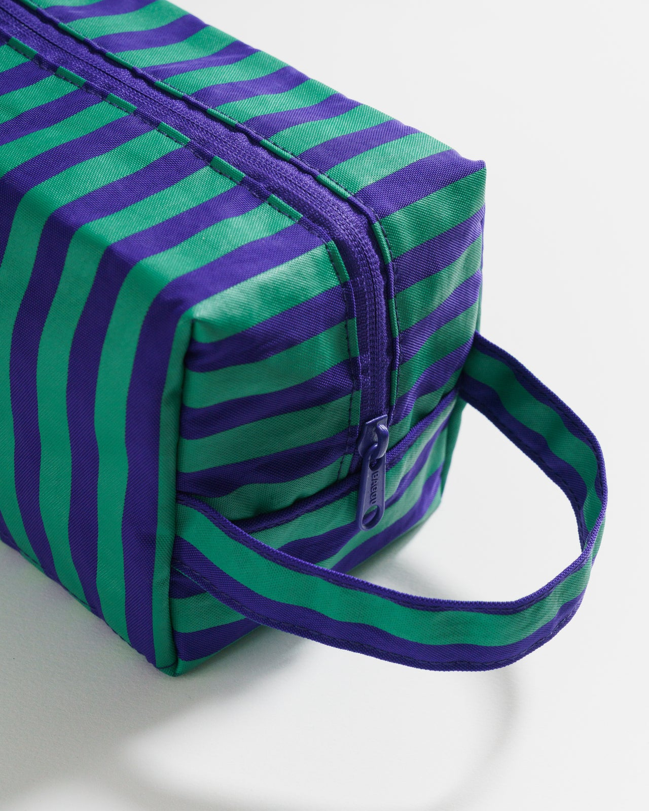 Dopp Kit - Cobalt and Jade Stripe