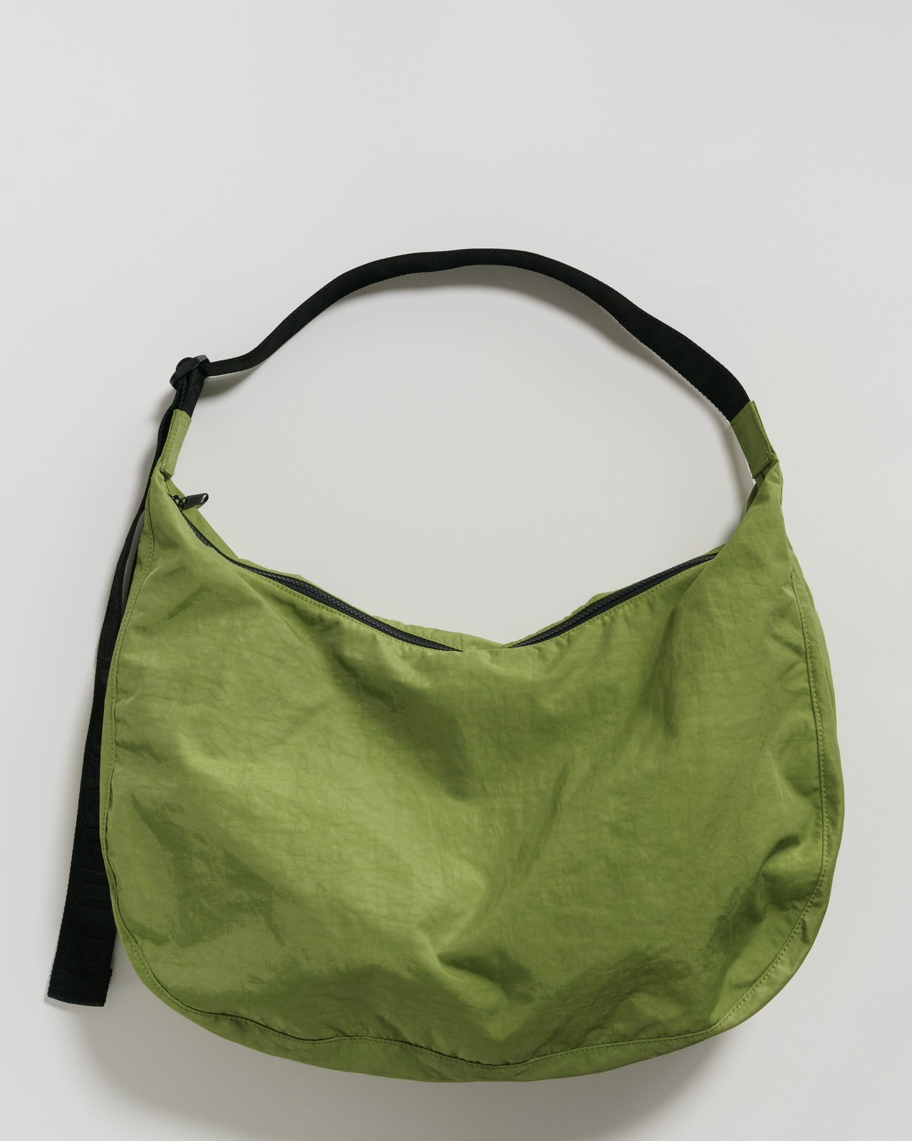 Large Nylon Crescent Bag - Green Apple