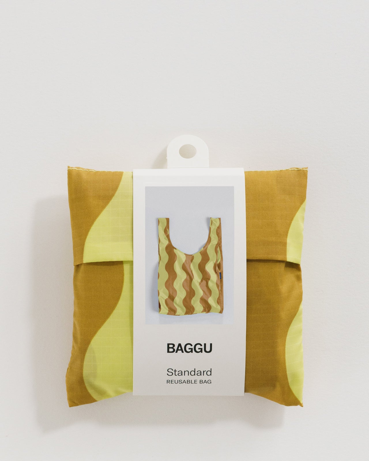Standard Baggu - Yellow and Gold Wavy Stripe