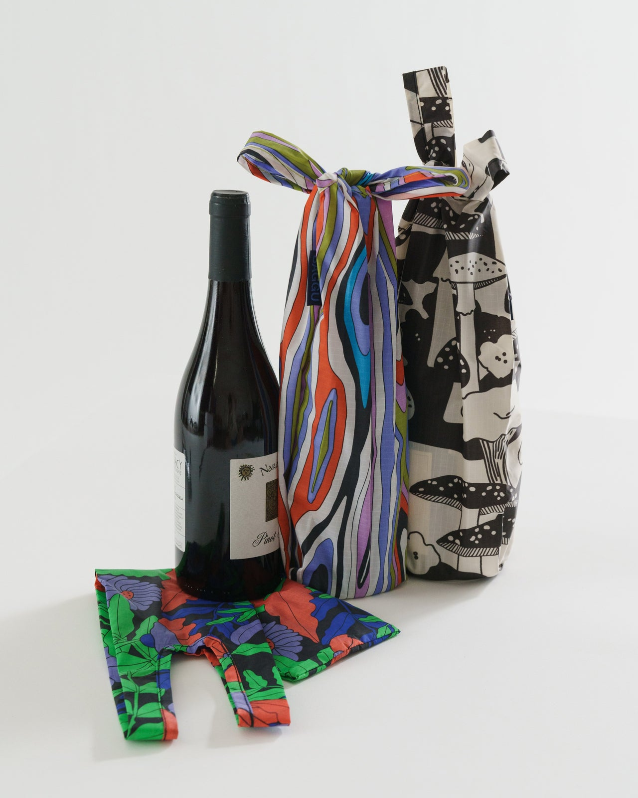 Wine Baggu Set of 3 - Forest Floor