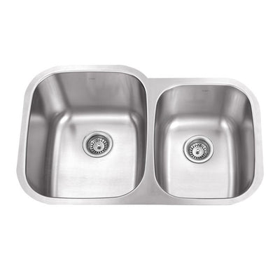 KRUGER® PICO-LF Double Offset Bowl Kitchen Sink