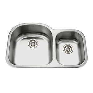 PICO - SL Double Offset Bowl Kitchen Sink
