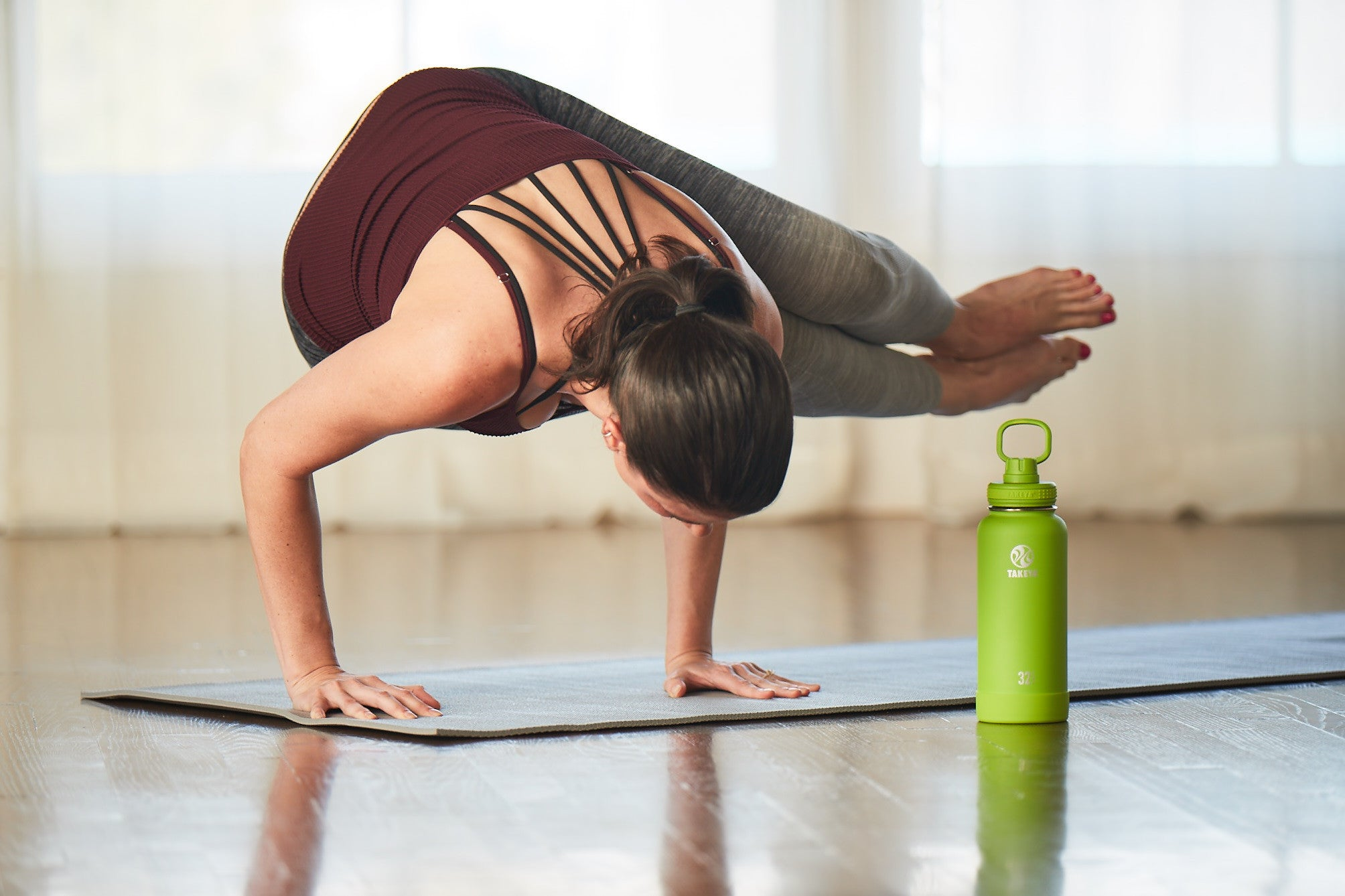 yoga insulated stainless steel water bottle