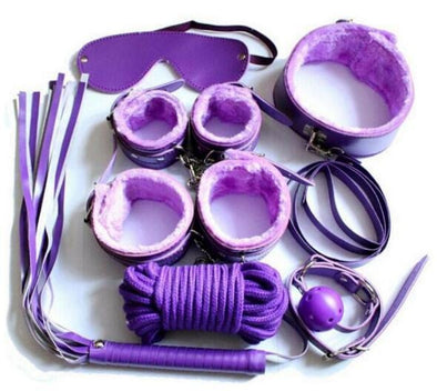 11 Piece Purple Bondage Kit / Set DDLGWorld bondage kit