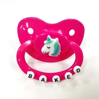 ABDL Adult Pacifier Baked Unicorn DDLGWorld adult pacifier