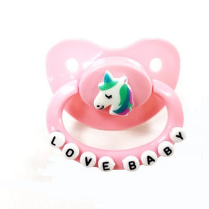 ABDL Adult Pacifier Lovebaby Unicorn DDLGWorld adult pacifier
