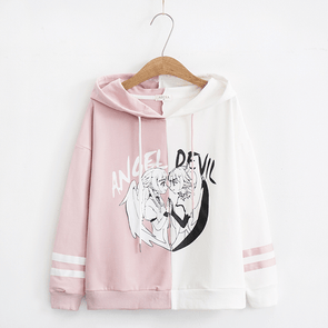 ANGEL x DEVIL Pastel Hooded Sweatshirt (3 Colors) DDLGWorld hoodie