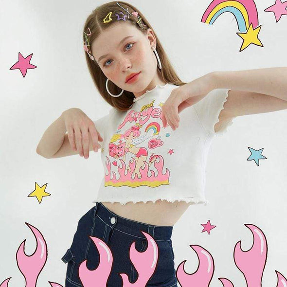 Bad Angel Crop Top DDLGWorld Crop Top
