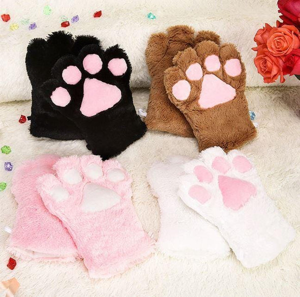 Fluffy Neko Kitten Mittens (5 Colors) DDLGWorld mittens