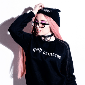 Goth Princess Sweatshirt DDLGWorld Sweatshirt