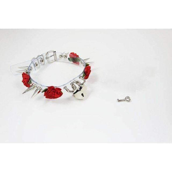 Handmade Transparent Rose Petal Spiked Collar - 12 Variations DDLGWorld collar