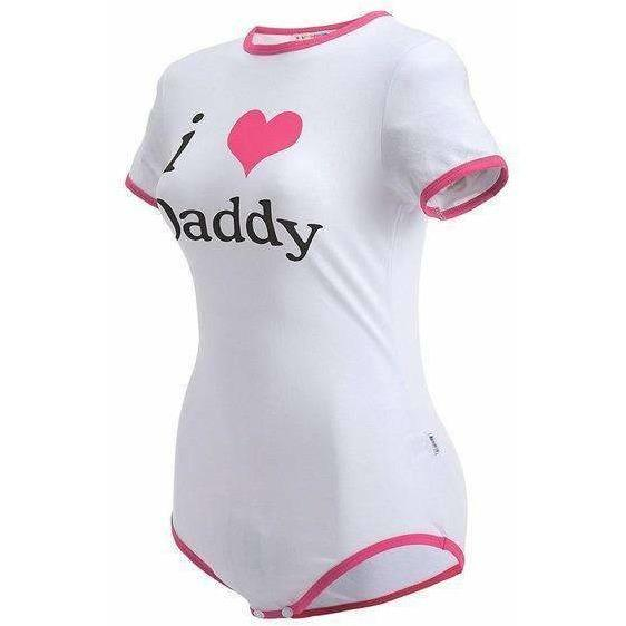 """I Heart Daddy"" Snap Crotch Romper Onesie DDLGWorld onesie"