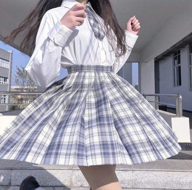 Ice Cold Plaid Skirt DDLGWorld skirt