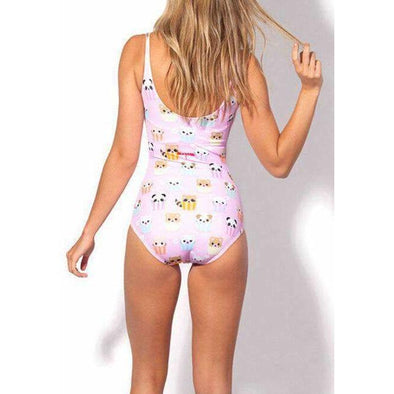Kawaii Animal Cupcake One Piece Swimsuit - S-XL Pink/Blue DDLGWorld swimsuit