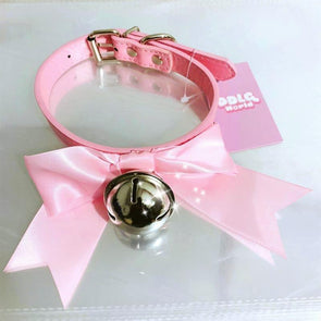 Kawaii Bell & Bow Collar + Leash (Sold Separately) - 4 Colors DDLGWorld bondage collar