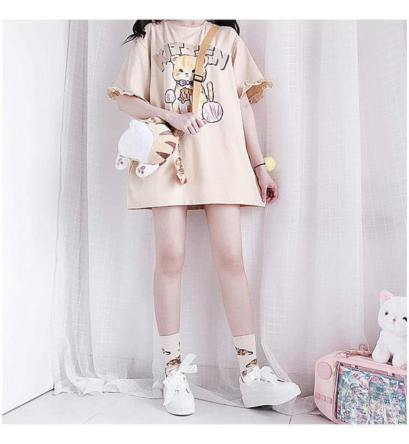 Kitten Oversized T-Shirt DDLGWorld t-shirt
