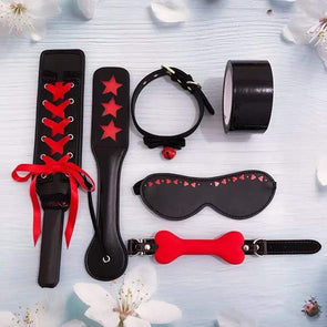 Naughty Devil 6 Piece BDSM Set DDLGWorld BDSM Kit