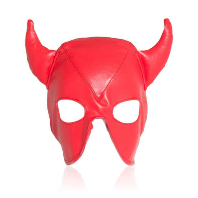 Naughty Devil Mask PU Leather DDLGWorld Mask
