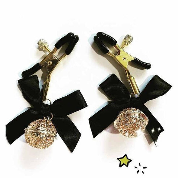 Nipple Clamp w/Bell & Bow (4 Colors) DDLGWorld nipple clamp