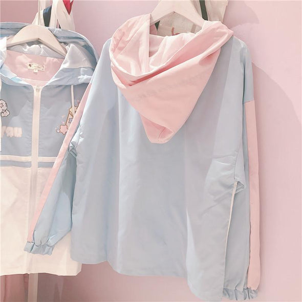 Pastel Harajuku Colorblock Jacket DDLGWorld