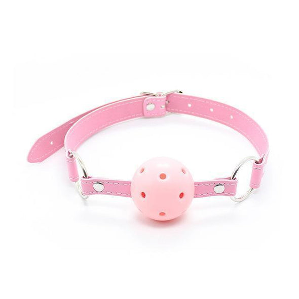 PASTEL PINK Open Mouth Ball Gag DDLGWorld gag