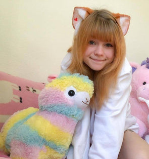 Pastel Rainbow Alpaca Plush 35/50cm DDLGWorld plush