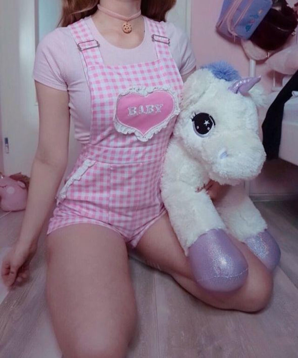 Pink/White Jumbo Unicorn Kawaii Plush 80cm DDLGWorld plush