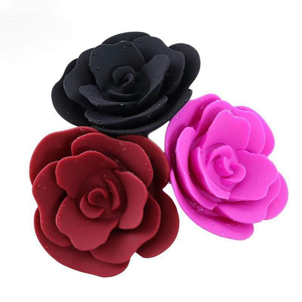 Rose Petal Silicone Buttplug (4 Colors) DDLGWorld buttplug