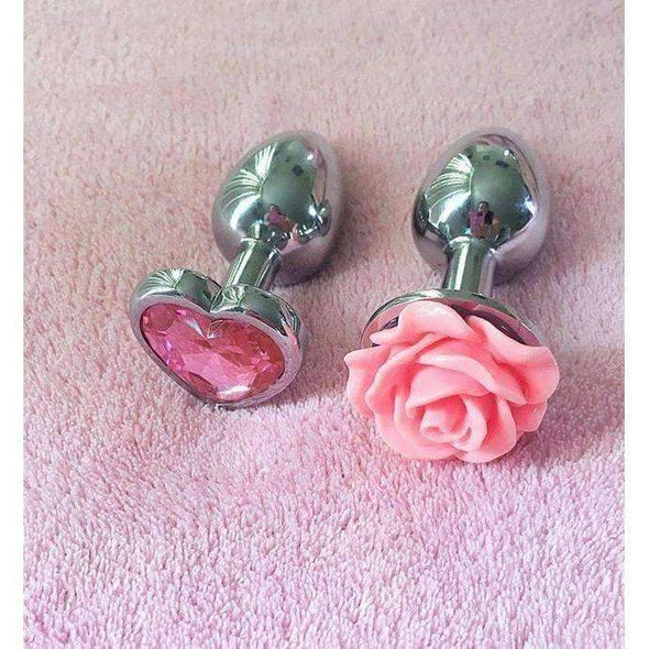 Rose Petal Stainless Steel Buttplug - 8 Colors DDLGWorld buttplug