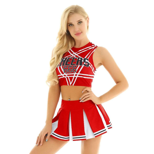 Sexy Devil Cheerleader Set DDLGWorld Set