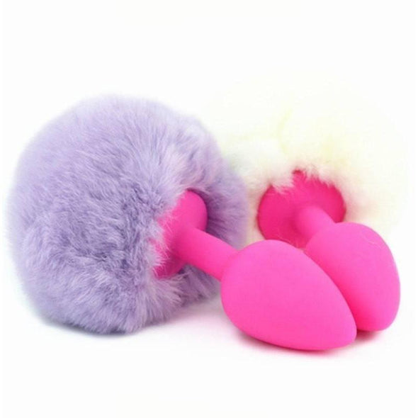 Silicone Rabbit Tail Butt Plug DDLGWorld buttplug tails