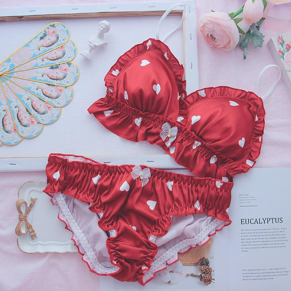 Sweetheart Lingerie Set (Red/White) DDLGWorld lingerie set