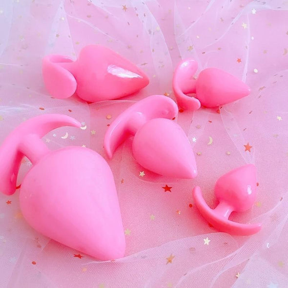 T Bar Pink Silicone Buttplug (6 Sizes) DDLGWorld buttplug