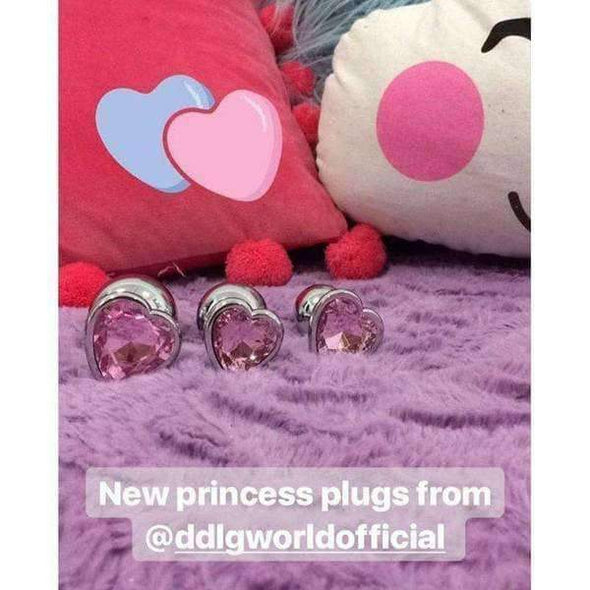 Three Piece Stainless Steel Heart Buttplugs (7 Colors) DDLGWorld buttplug
