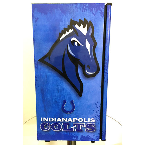 Indianapolis Colts Fridge, Indianapolis Colts Beer Fridge, Indianapolis Colts Mini Fridge, Indianapolis Colts Fridge Decals, Custom Fridge Wraps, Fridge Decals