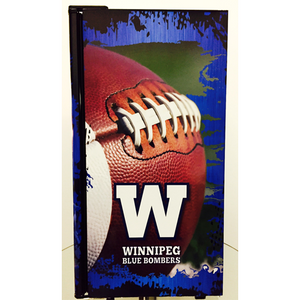 Winnipeg Blue Bombers Fridge, Winnipeg Blue Bombers Beer Fridge, Winnipeg Blue Bombers Mini Fridge, Winnipeg Blue Bombers Fridge Decals, Winnipeg Blue Bombers Fridge, Custom Fridge Wraps, Fridge Decals