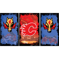 Calgary Flames Fridge, Calgary Flames Beer Fridge, Calgary Flames Mini Fridge, Calgary Flames Fridge Decals, Custom Fridge Wraps, Fridge Decals