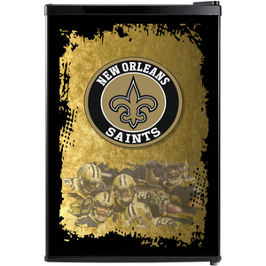 New Orleans Saints Fridge, New Orleans Saints Beer Fridge, New Orleans Saints Mini Fridge, New Orleans Saints Fridge Decals, Custom Fridge Wraps, Fridge Decals